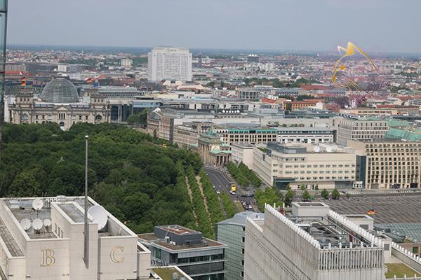 Brandenburger Tor, Reichstag, Luftbild
