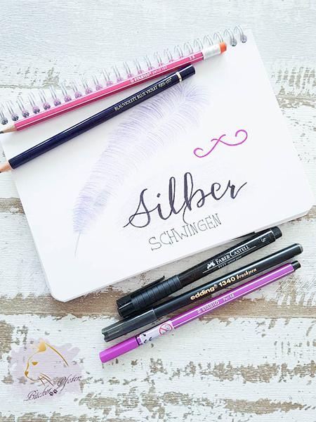 Handlettering - Emily Bold - Silberschwingen - Stifte