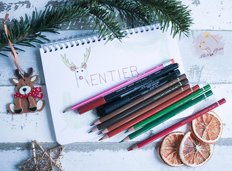 Handlettering #4 - weihnachtliche Buchfigur -Stifte