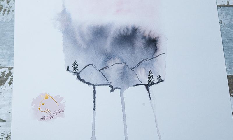 Messe Creativeworld - Frau Hölle Watercolour